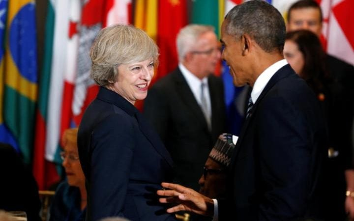 President Barack Obama and Theresa May