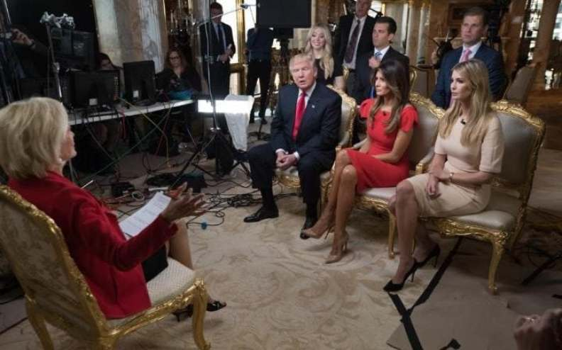 Image result for donald trump heaps praise on hillary and bill clinton in first television interview