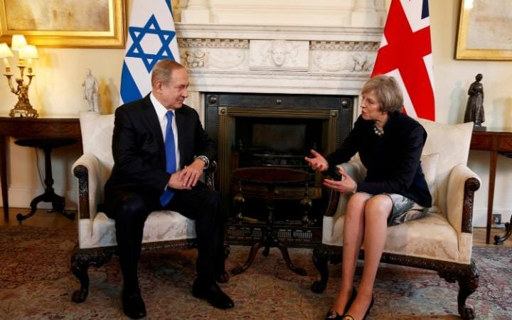 Binyamin Netanyahu meets British PM Theresa May