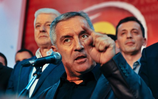 Montenegrin Prime Minister Milo Djukanovic and leader of ruling Democratic Party of Socialists