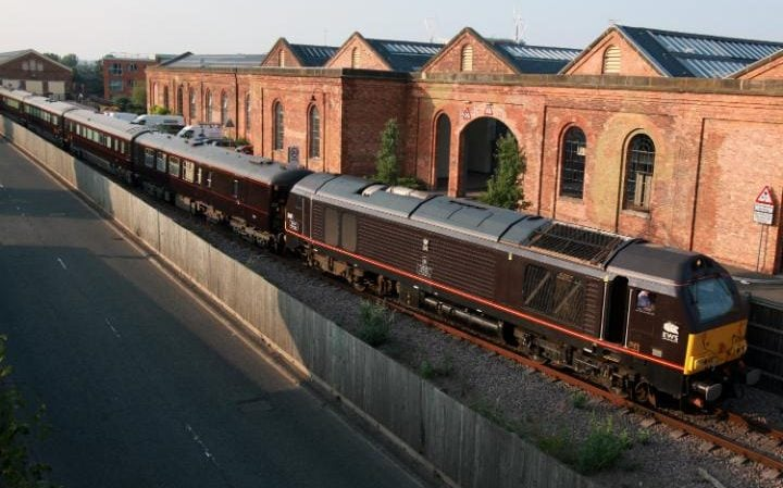 The Royal Train at Wolverton Works, near Milton Keynes