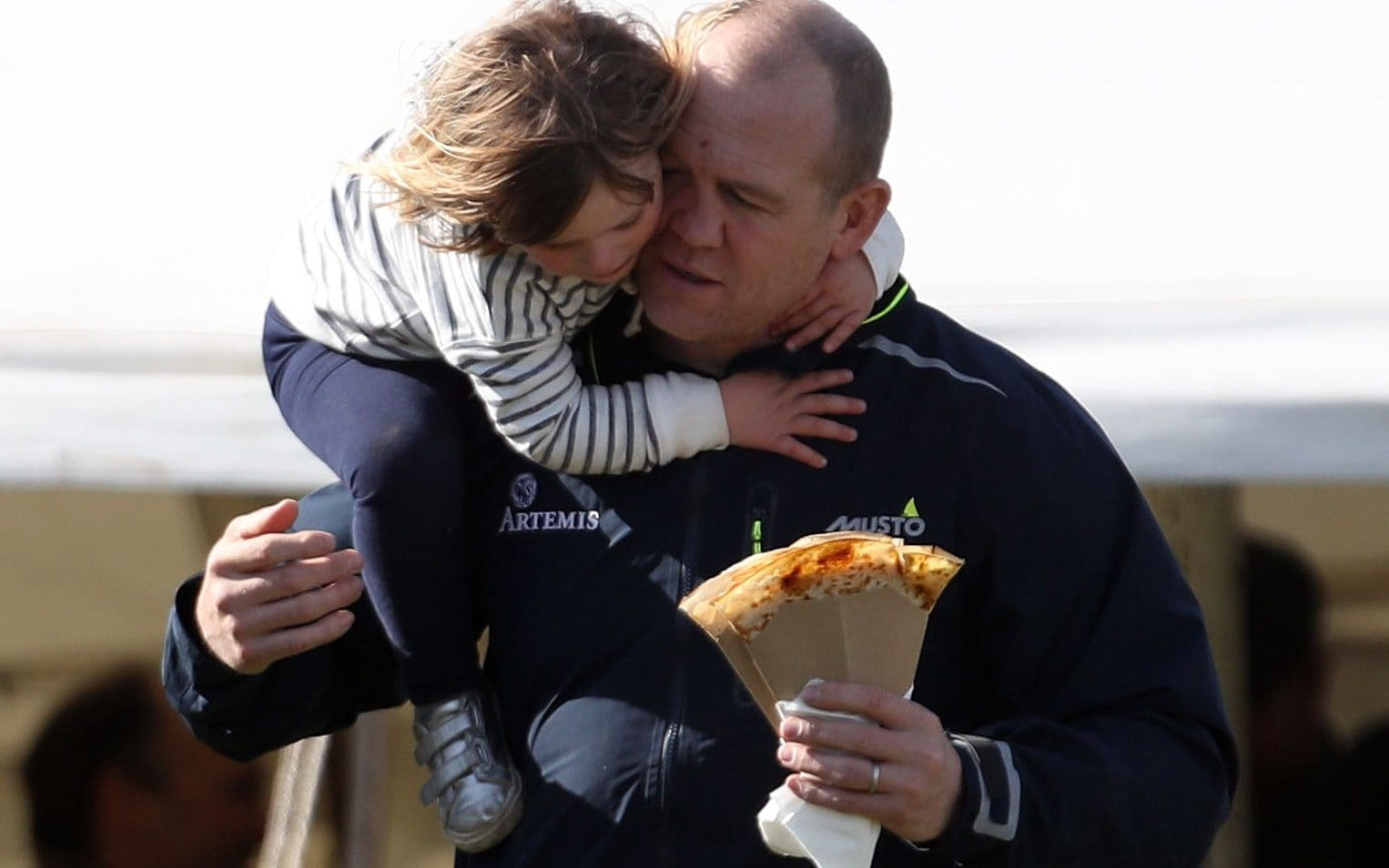 Mr Tindall pictured with his daughter Mia at the Land Rover Gatcombe Horse trials in Gloucestershire last year