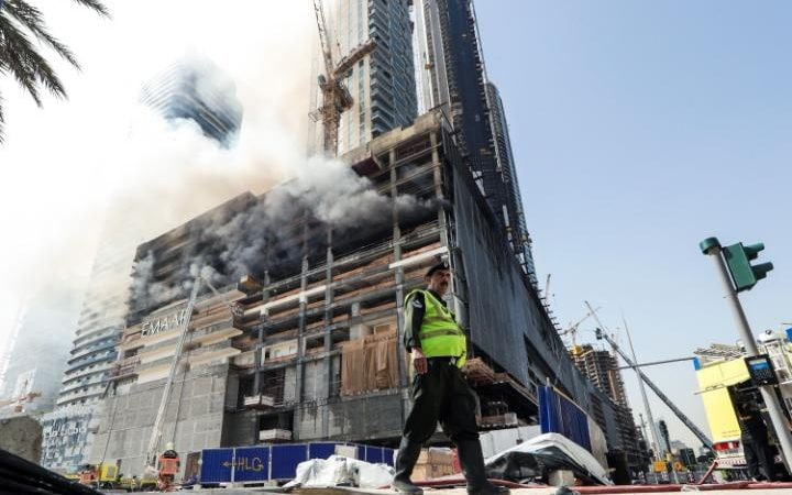The high-rise Fountain Views complex is being built by state-backed Dubai developer Emaar Properties