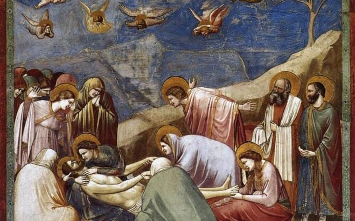 The Lamentation of the Death of Christ by Giotto Bondone