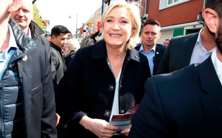 French presidential election candidate Marine Le Pen