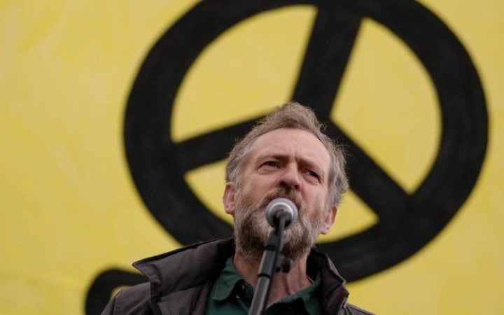 Jeremy Corbyn took part in a rally preceeding a three day march to Aldermaston called by CND calling for all of the UK's nuclear activities be suspended