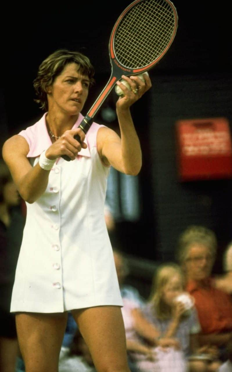 Margaret Court in action