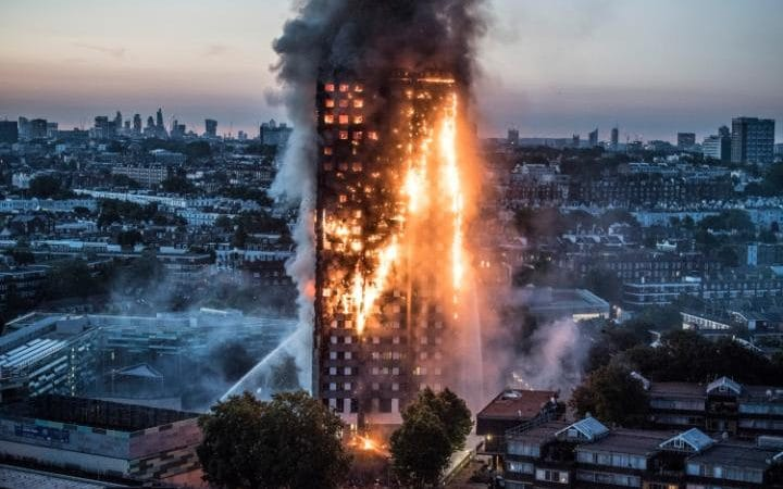 "Residents were trapped ""screaming for their lives"" as flames raged through a 27-storey tower block in Notting Hill in the early hours today"