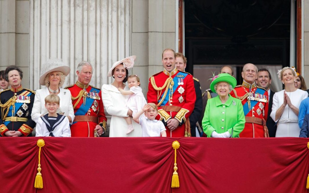 The Royal family enjoy Trooping the Colour ceremony in 2016
