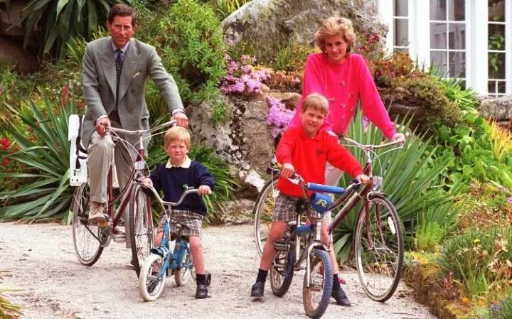 Out riding their bikes