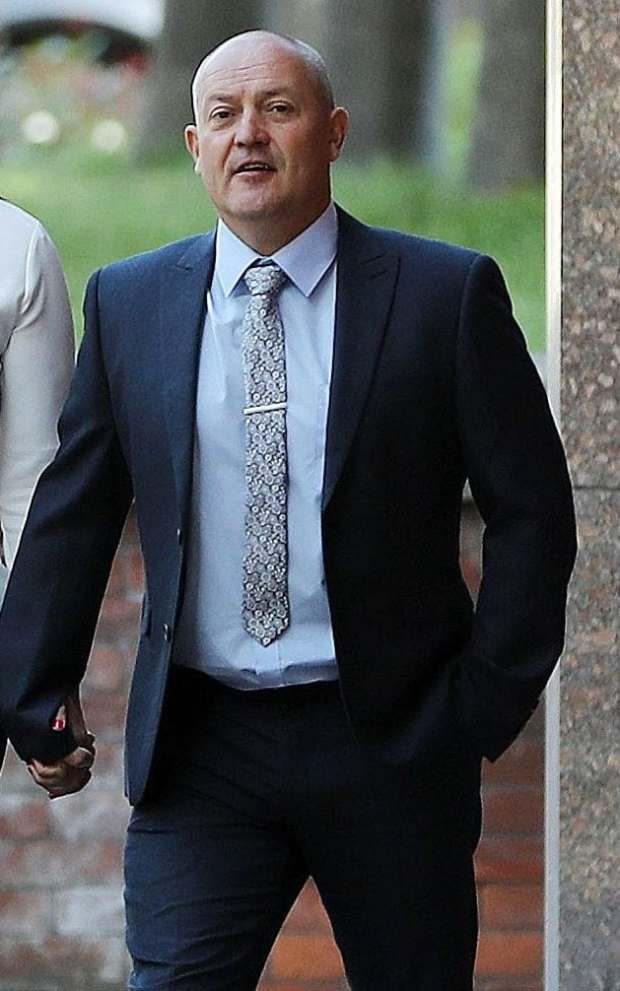 Lee Walls arrives at Sheffield Crown Court for the start of his trial