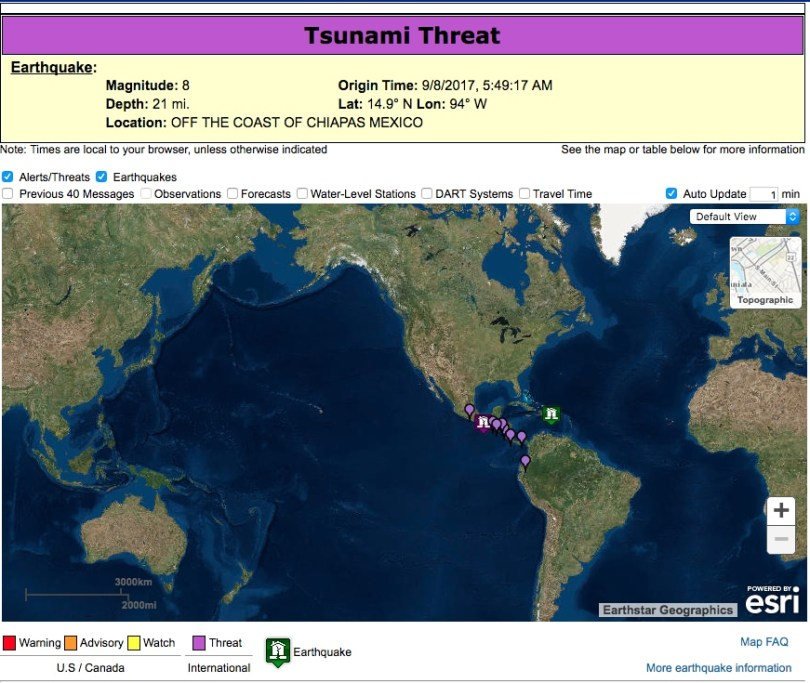 Tsunami warnings