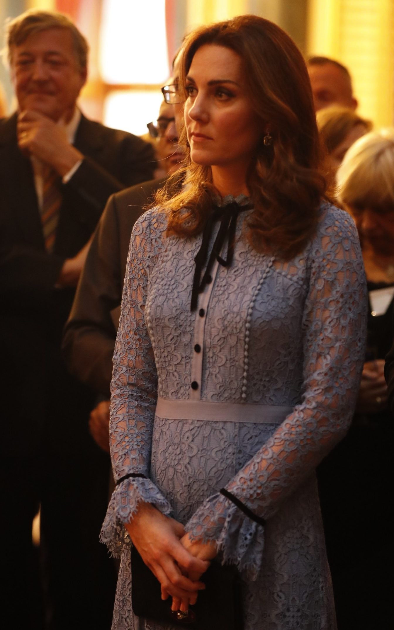 Royal fans have not seen the Duchess, who dressed in Temperley for the event, since the end of August