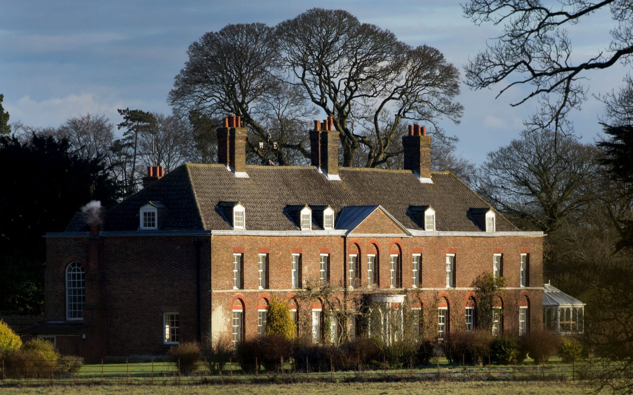 Anmer Hall in Norfolk is one of the 150 properties owned by the Queen on her 20,000 acre estate in north Norfolk and is only two miles east of Sandringham House