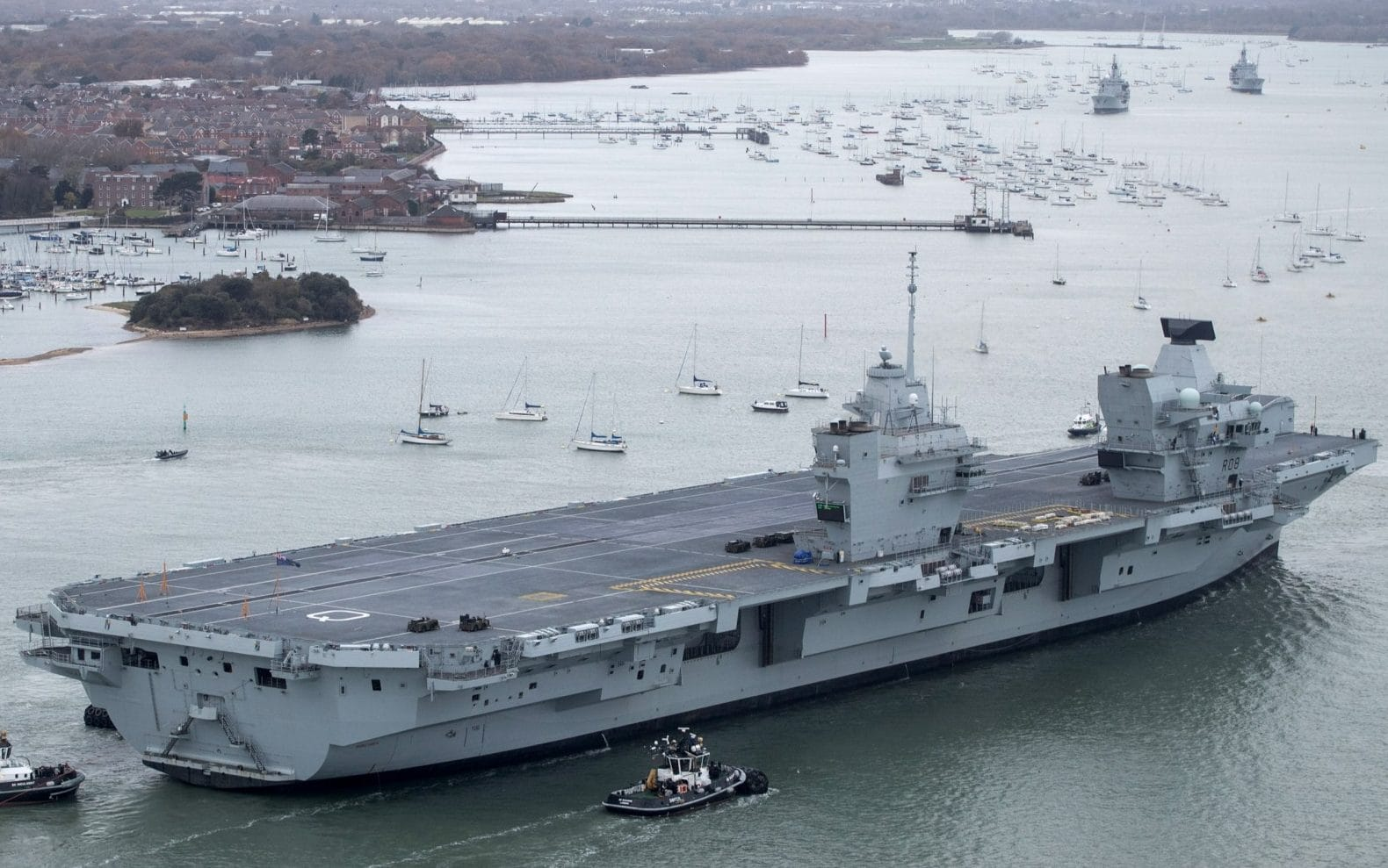 At 280m (918ft) long and with an estimated half-a-century working life, HMS Queen Elizabeth is the biggest carrier ever built by the UK