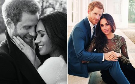 Prince Harry And Meghan Markle In Their Engagement Photographs