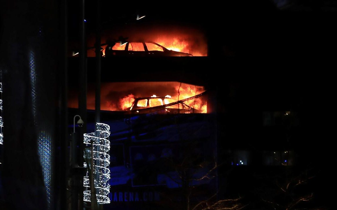 a fire has destroyed all cars in a 1,600 capacity multi-storey car