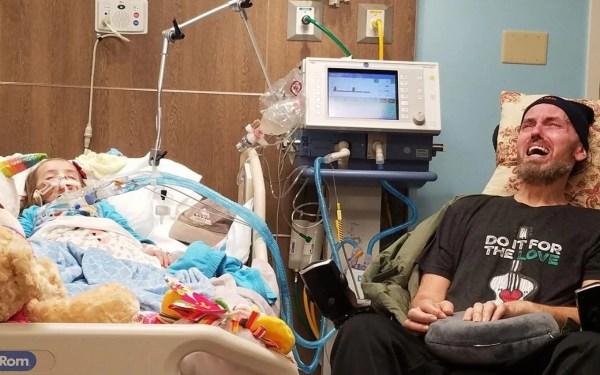 Tragic photo of girl with brain tumour shows devastating ...