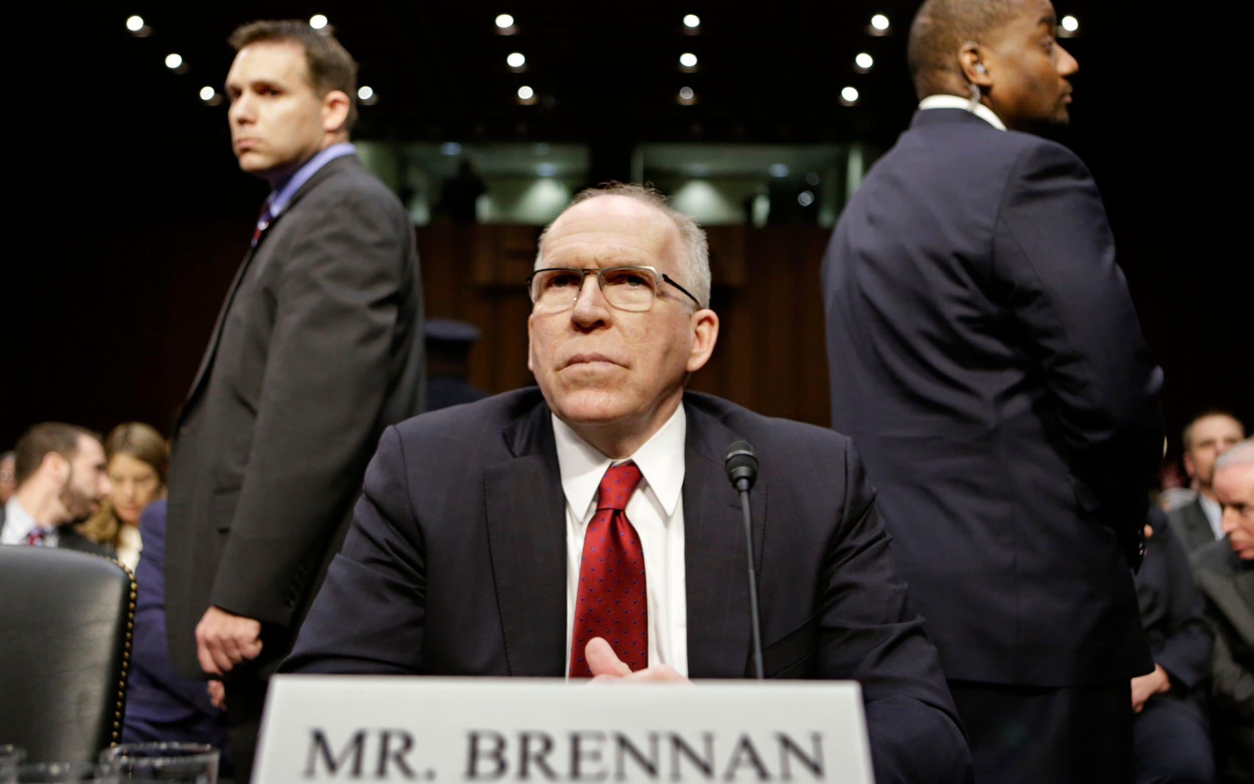 Former CIA director John Brennan was one of the officials targetted by Gamble
