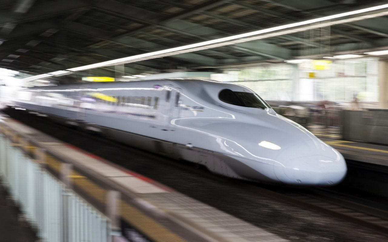 Japanese Rail Workers Forced To Crouch In Tunnel Next To