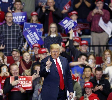 President Trump election rally