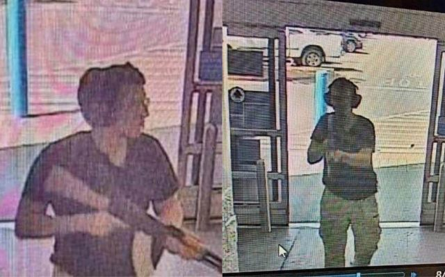 This CCTV image obtained by KTSM 9 news channel reportedly shows the gunman entering the Cielo Vista Walmart store in El Paso on august 3, 2019.