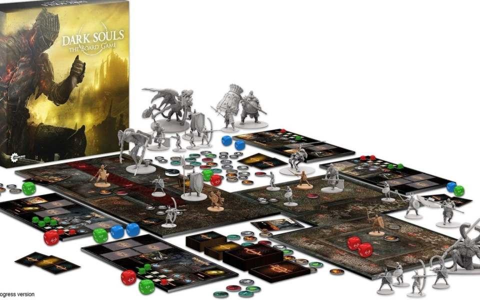 Dark Souls - The Board Game, de fabrication britannique, basé sur le jeu vidéo éponyme