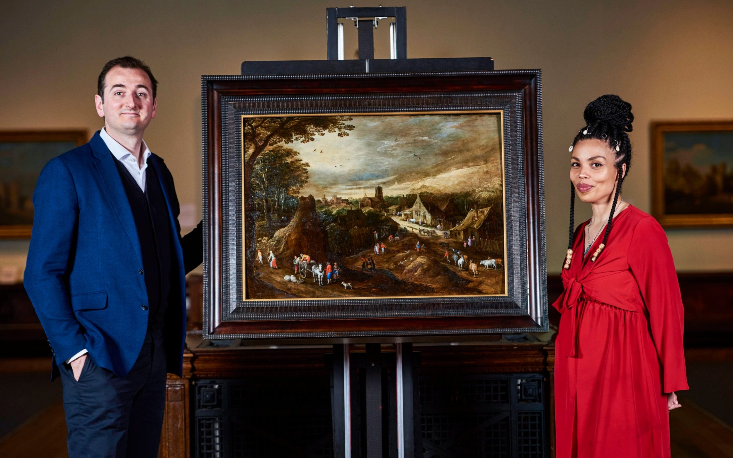 Lost masterpiece found broken in two in gallery storage, after BBC expert identified it from cow's backsides