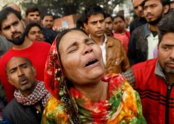 Sleeping workers among 43 killed in 'horrific' Delhi factory fire