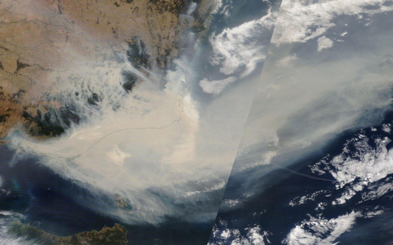 NASA claims that smoke from Australian flames is about to complete a full world tour