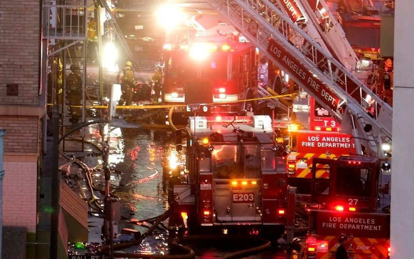 More than 10 firefighters injured in Los Angeles building explosion