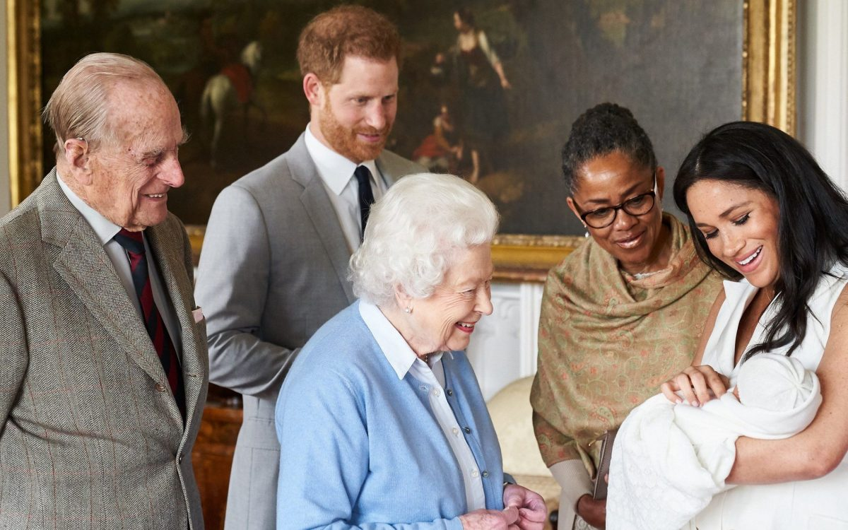 Duchess of Sussex with the Queen and her mother