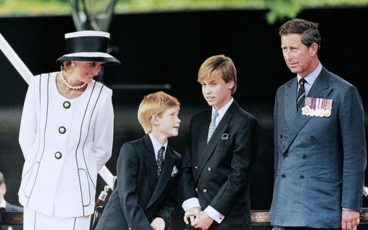 Princess Diana and Prince Charles with their children William and Harry