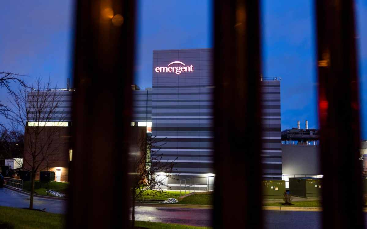 Emergent Biosolutions, where a mishap spoiled 15 million doses of Johnson & Johnson's COVID vaccine, in Baltimore, Maryland