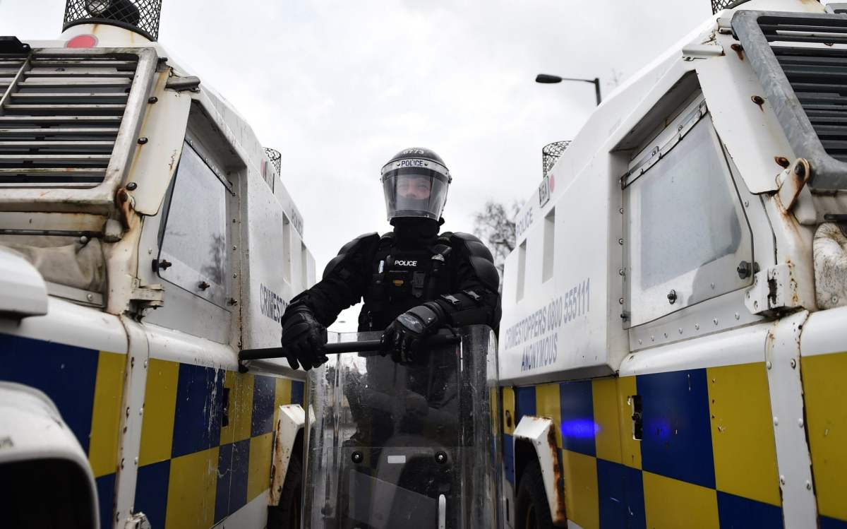 Police pushed back nationalists in Belfast amid more unrest on Thursday night