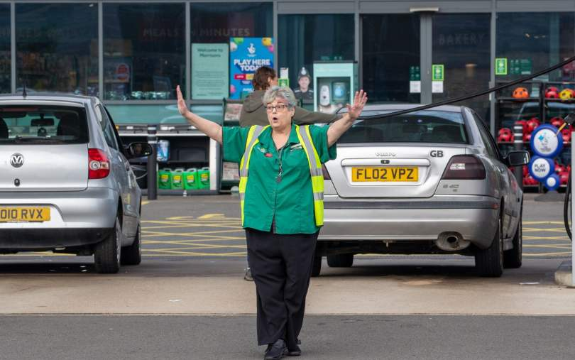 In St Ives, Cambridgeshire, the manager of the Morrisons petrol station turned customers away after it ran out of fuel