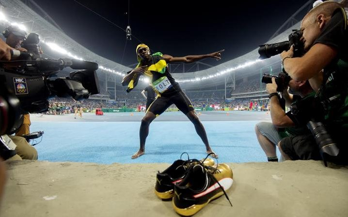The shoes that carried Bolt to glory