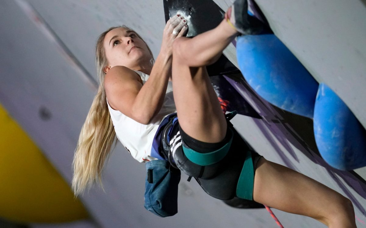 Will Britain's Shauna Coxsey be crowned the first women's Olympic sport climbing champion?