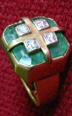 The ring that Pope Paul VI gave Archbishop Ramsey of Canterbury