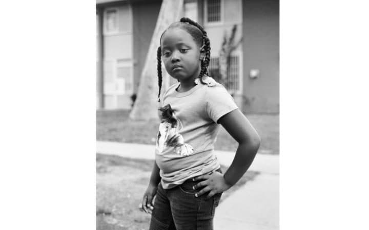 Sa'Marra - Selena's daughter photographed in the Imperial Courts projects