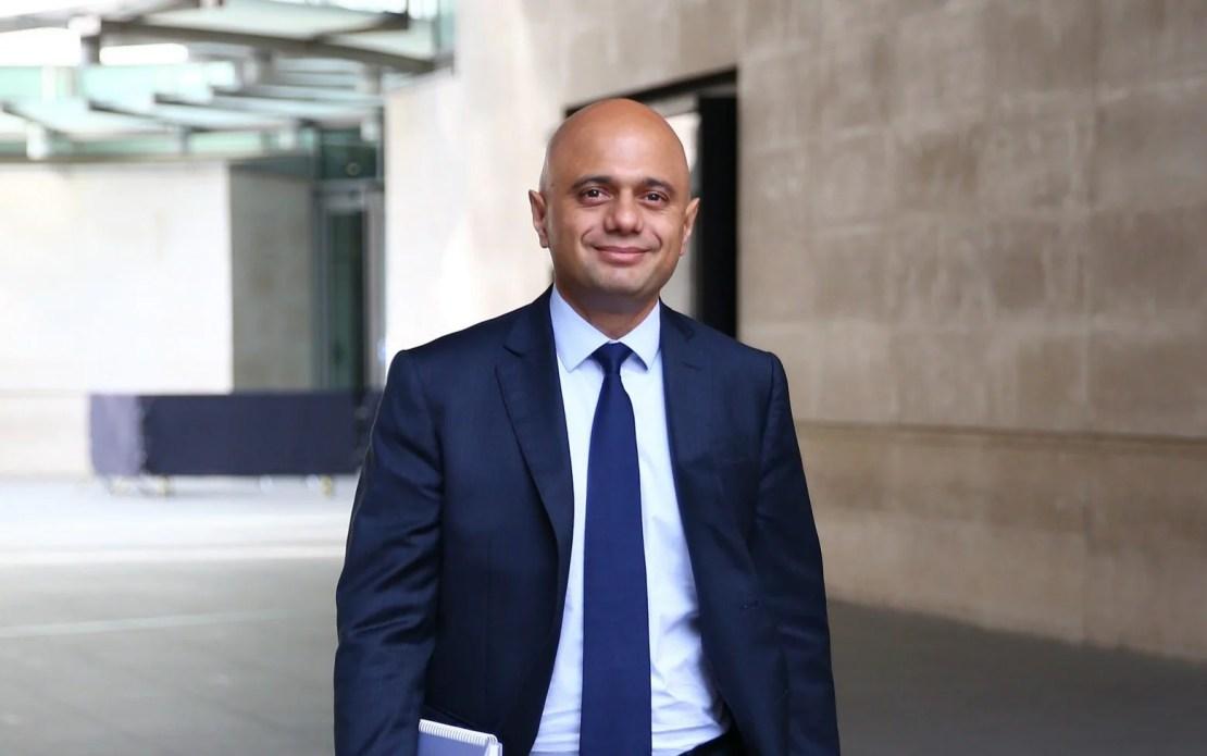Health Secretary Sajid Javid leaves BBC studios