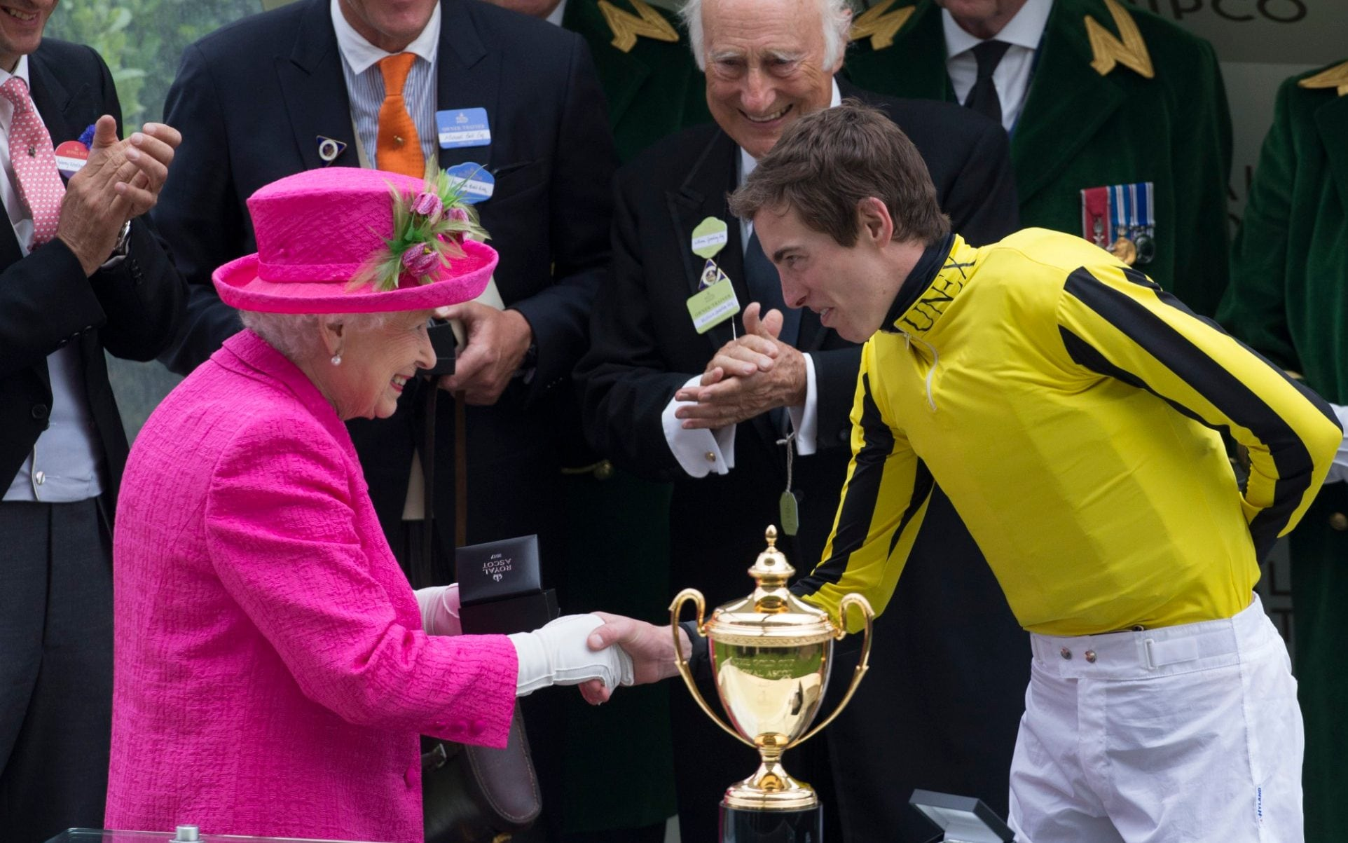 The Queen presents the Gold Cup at Royal Ascot this year