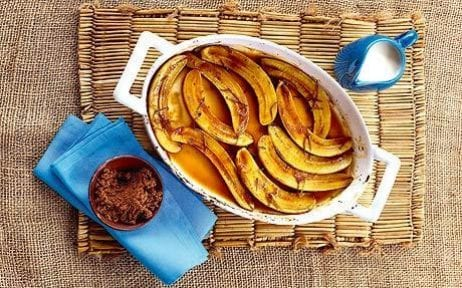 baked bananas with rum and lime