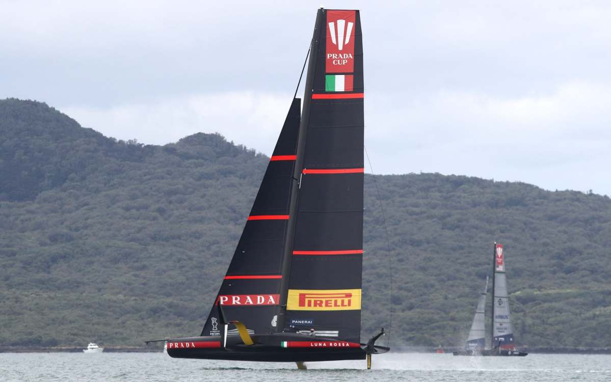The Luna Rossa team is owned by Prada CEO Patrizio Bertelli and sponsored by the Italian fashion brand