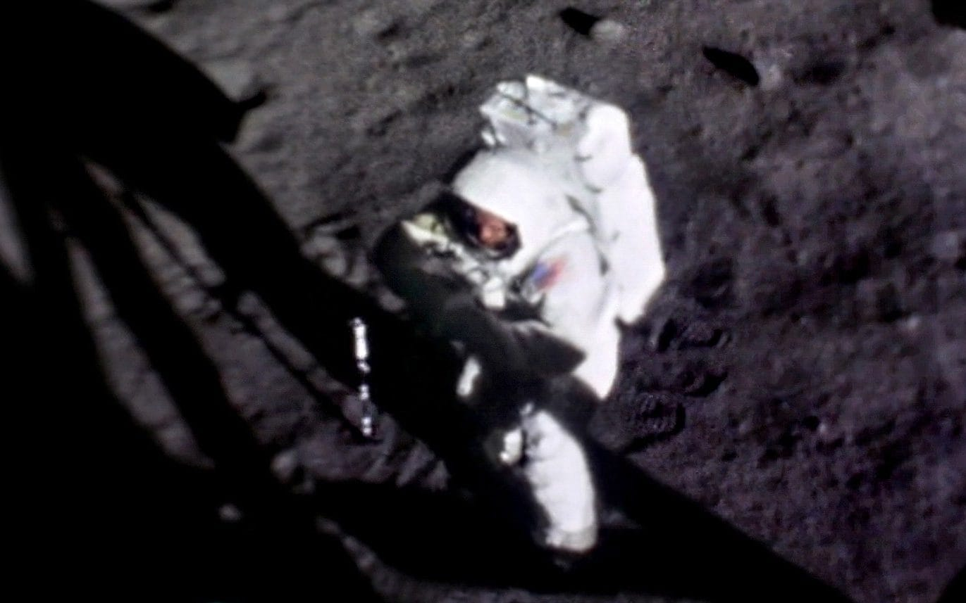 First clear picture of Neil Armstrong's face while walking ...