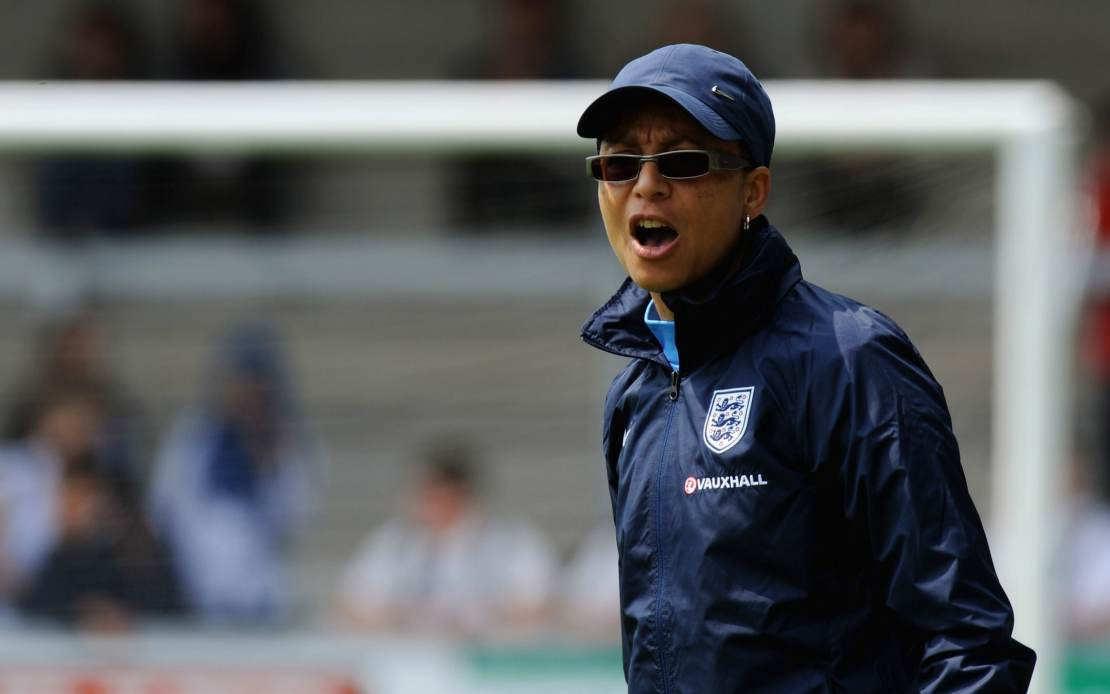Hope Powell became England's first black manager in the men or women's game