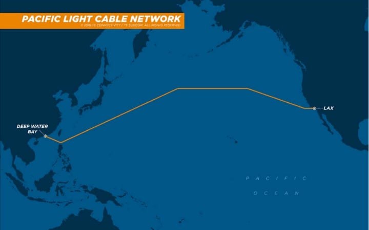 Facebook and Google's internet cable's proposed route