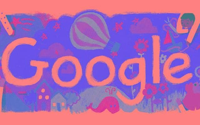 Google is marking Universal Children's Day with a doodle