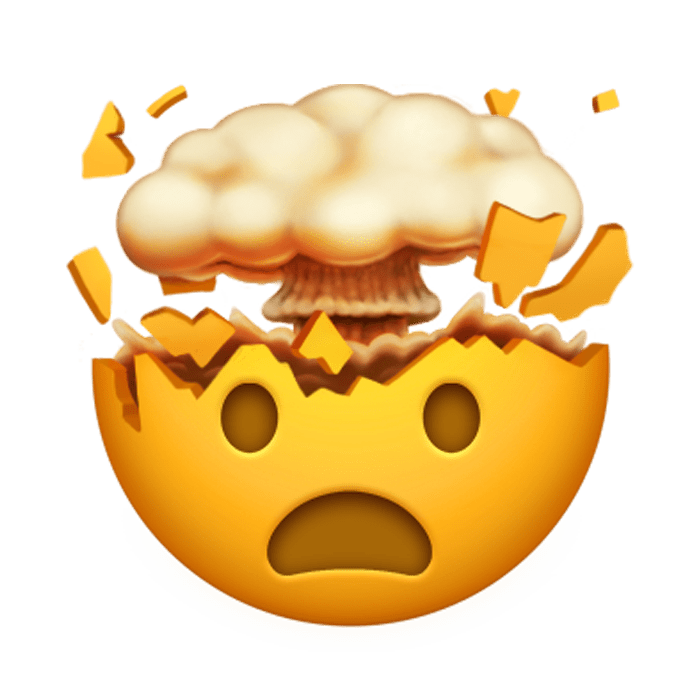 Image result for exploding head emoji