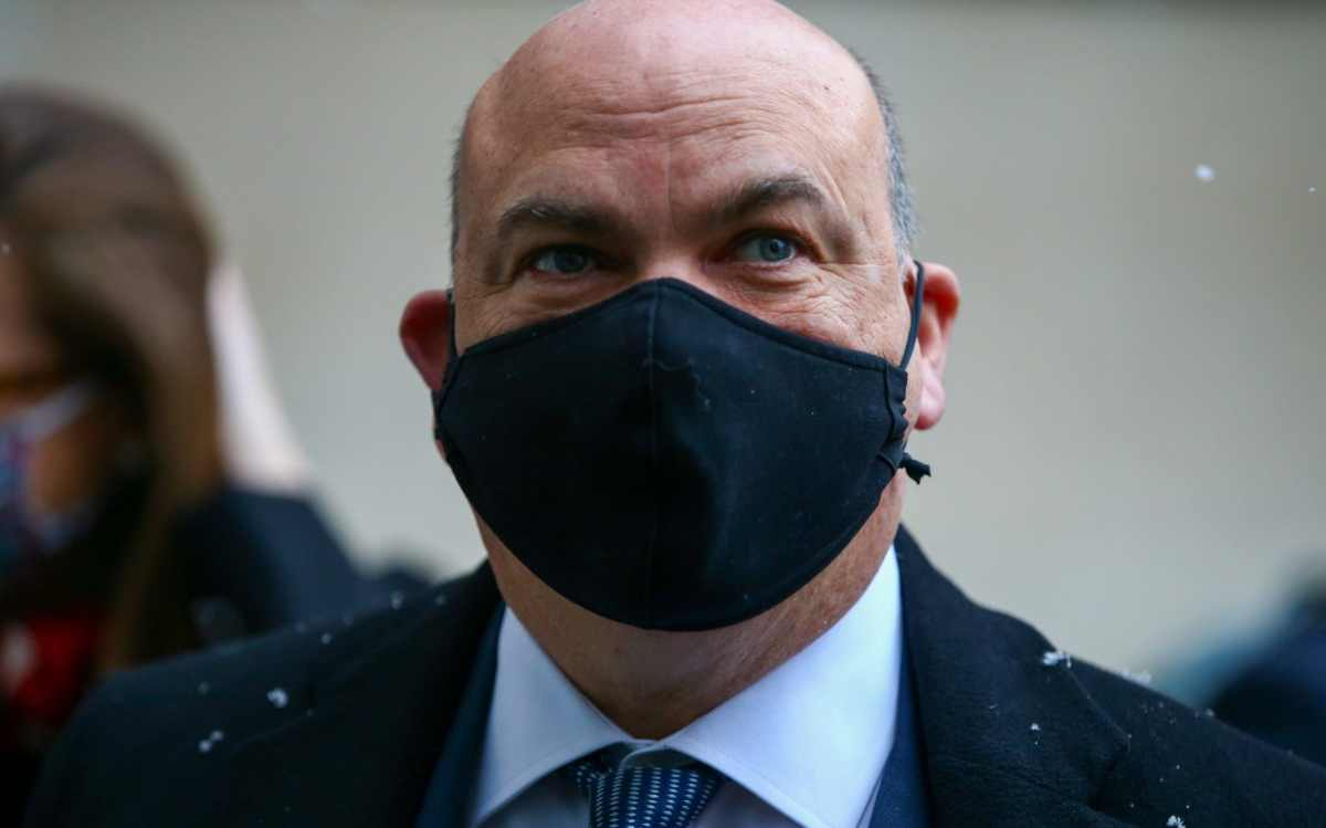 Mike Lynch, former chief executive officer of Autonomy Corp., arrives for his extradition hearing at Westminster Magistrates Court in London, U.K., on Tuesday, Feb. 9, 2021.